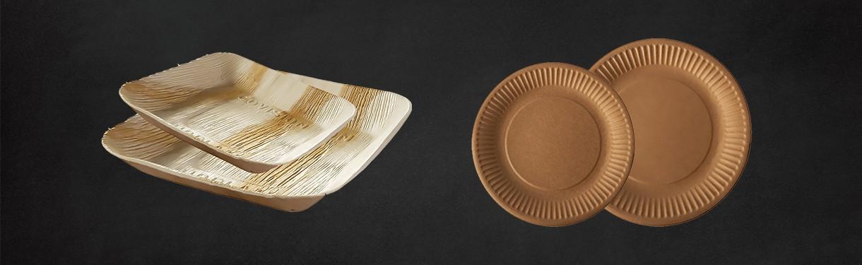 Assiettes (plastique, carton, palmier, recyclable)- Ateliers Porraz