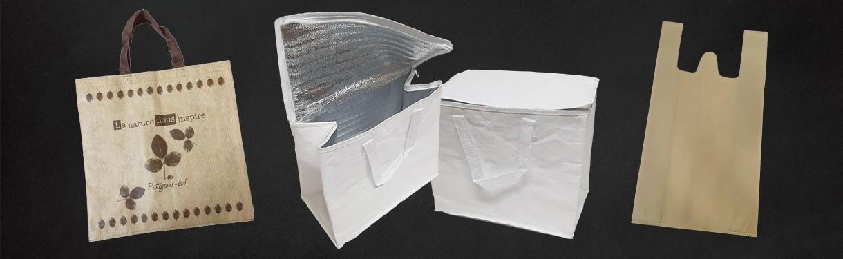 Sacs réutilisables en polypropylène - Ateliers Porraz