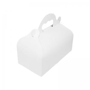 Boîte à gâteau avec poignées, carton blanc, 18x10x7cm / Par 50