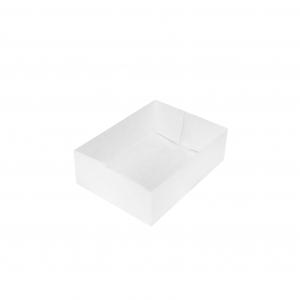Boîte à gâteau sans couvercle (Caissette pâtissière), carton blanc, 13x10x5cm / Par 100