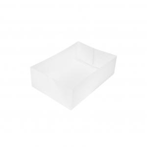 Boîte à gâteau sans couvercle (Caissette pâtissière), carton blanc, 16x12x5cm / Par 100