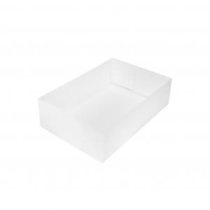 Boîte à gâteau sans couvercle (Caissette pâtissière), carton blanc, 18x12x5cm / Par 100