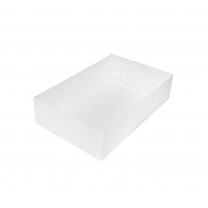 Boîte à gâteau sans couvercle (Caissette pâtissière), carton blanc, 20x13x5cm / Par 100