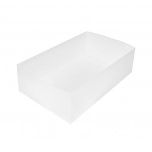 Boîte à gâteau sans couvercle (Caissette pâtissière), carton blanc, 24x15x7cm / Par 100