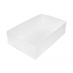 Boîte à gâteau sans couvercle (Caissette pâtissière), carton blanc, 26x16x7cm / Par 100