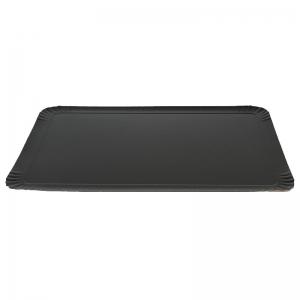 Plateau traiteur noir/or en carton (32x42cm) / Par 25