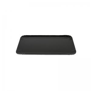 Plateau traiteur noir/or en carton (19x28cm) / Par 25