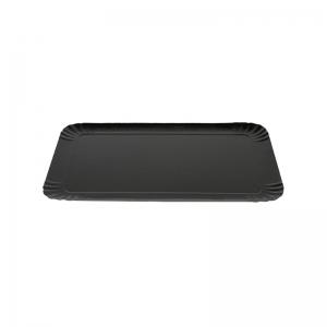 Plateau traiteur noir/or en carton (25x34cm) / Par 25