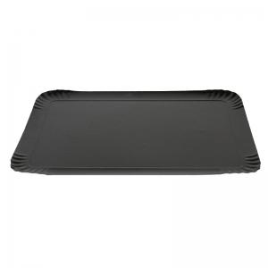 Plateau traiteur noir/or en carton (28x42cm) / Par 25