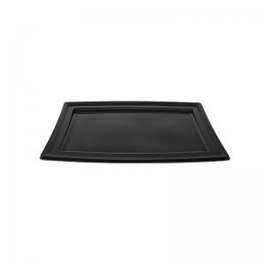 """Plateau traiteur noir en plastique """"PLC280"""" / Par 5"""