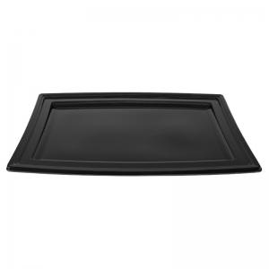 """Plateau traiteur noir en plastique """"PLC450"""" / Par 5"""