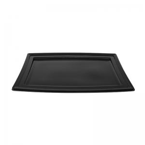 """Plateau traiteur noir en plastique """"PLC350"""" / Par 5"""