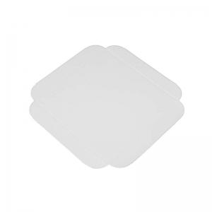 Carré rainé carton blanc 17cm