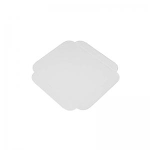Carré rainé carton blanc 13cm
