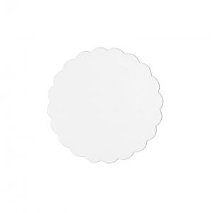 Rond festonné carton blanc 21cm