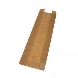 Sac à pain kraft brun (15x6x51cm) avec fenêtre