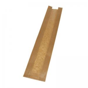 Sac à pain kraft brun (10x5x51cm) avec fenêtre