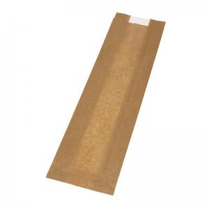 Sac sandwich kraft brun (10x5x37cm) avec fenêtre / Par 1000