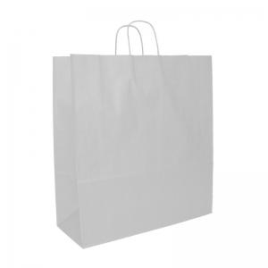Sac cabas blanc poignée ficelle (45X17X48cm) / Par 50