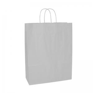 Sac cabas blanc poignée ficelle (35x14x44cm) / Par 50