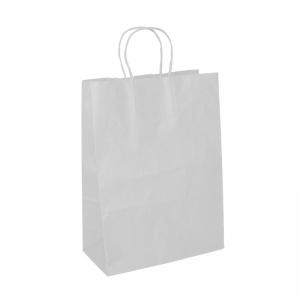 Sac cabas blanc poignée ficelle (22x10x31cm) / Par 50