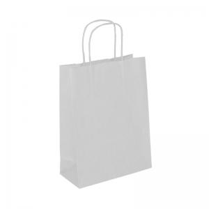 Sac cabas blanc poignée ficelle (18x8x22cm) / Par 50