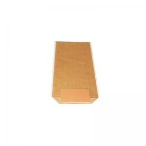 Sac confiserie fond carton 100x220mm (Toile de jute naturelle) / Par 100