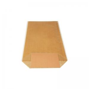 Sac confiserie fond carton 170x320mm (Toile de jute naturelle) / Par 100