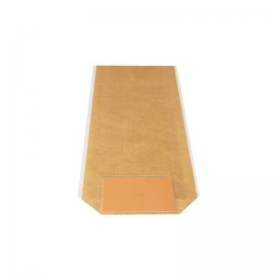 Sac confiserie fond carton 140x305mm (Toile de jute naturelle) / Par 100