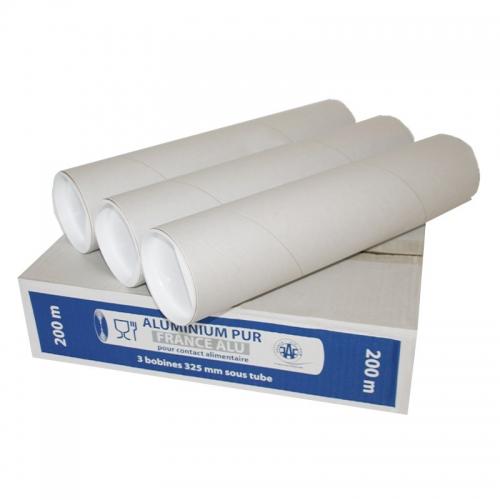 Film aluminium (0,325x200) Lot de 3 rouleaux