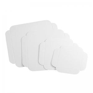 Carré rainé carton blanc 21cm