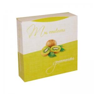 Boite à gâteau carton blanc, couleur vert anis 18x5cm / Par 50
