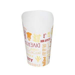 Pot à Wraps carton blanc avec motif (8,5x13,5cm) / Par 50