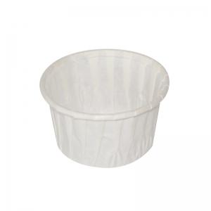 Moule cuisson rond blanc 100ml (54x40mm) / Par 250