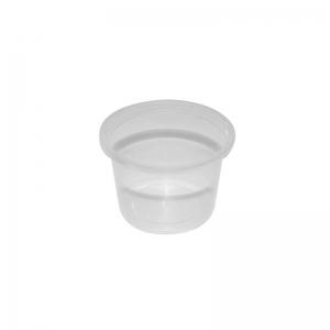 Pot plastique rond avec couvercle séparé (100ml) / Par 100