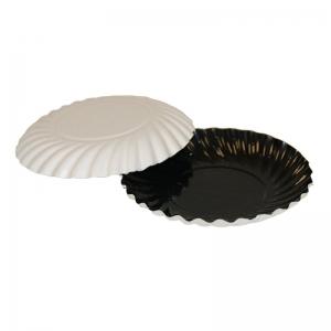 Assiette carton noir/blanc 88mm