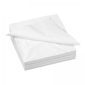 Serviette blanche en papier 30x30cm (2 plis) / Par 3200