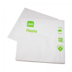 Serviette blanche en papier 40x40cm (2 plis) / Par 50