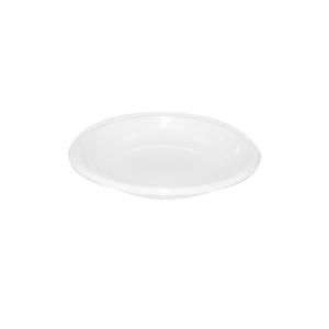 Assiette ronde plastique blanc (12cm) / Par 100