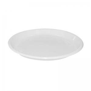 Assiette ronde plastique blanc (22cm) / Par 100