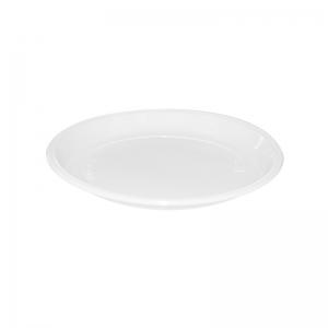 Assiette ronde plastique blanc (18cm) / Par 100