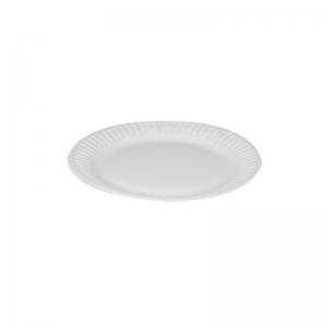 Assiette ronde carton blanc (15cm) / Par 100