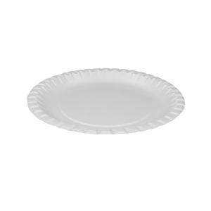 Assiette ronde carton blanc (20cm) / Par 100