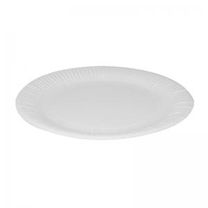 Assiette ronde carton blanc (23cm) / Par 100