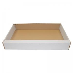 Cagette de transport carton blanc (64x42x10cm) / Par 50