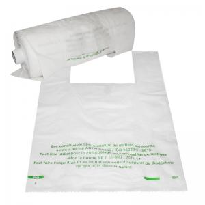 """Sac bretelle transparent Bio-sourcée (28x7,5+7,5x48cm) """"Rouleaux"""" / Par 2400"""