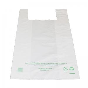 Sac bretelle blanc (30x9+9x60cm) réutilisable / Par 500