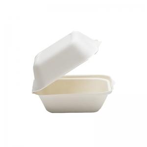 Boite Burger carrée canne à sucre (15x15x8cm) / Par 50
