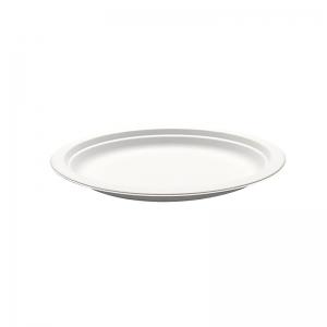 Assiette ronde blanche canne à sucre (18cm) / Par 50