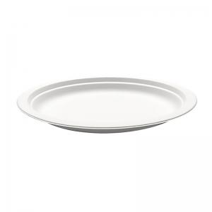 Assiette ronde blanche canne à sucre (23cm) / Par 50